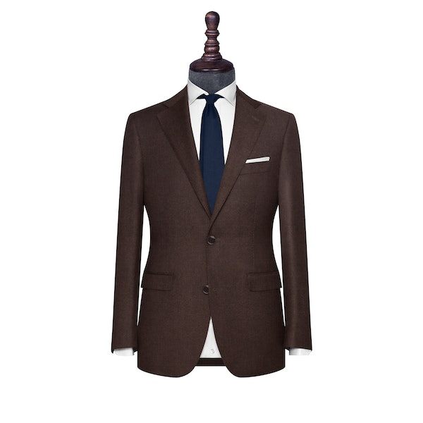 InStitchu Collection The Parma Dark Brown Flannel Wool Jacket