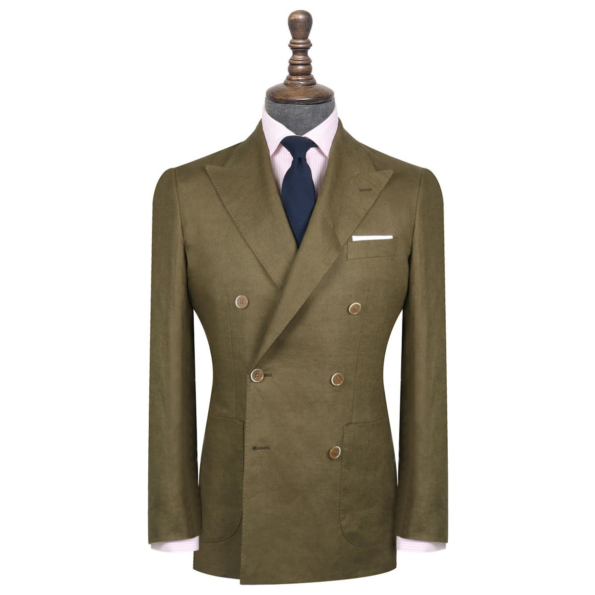 InStitchu Collection The Ricci Olive Green Linen Jacket