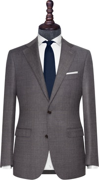 InStitchu Collection The Salerno Grey Glen Plaid Wool Jacket