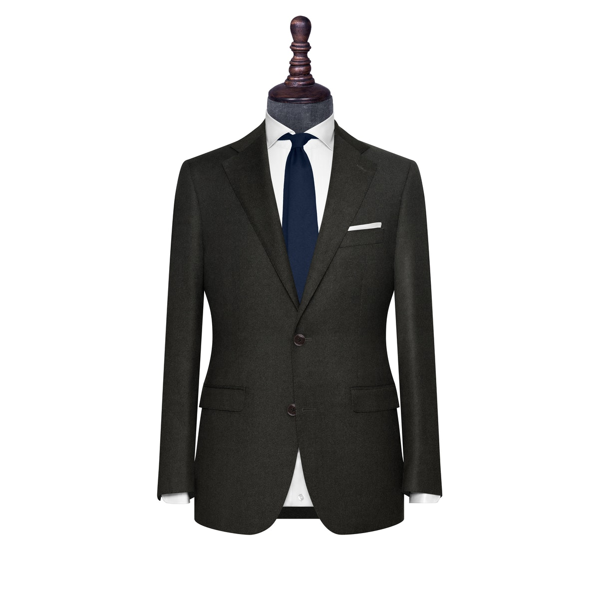 InStitchu Collection The Savona Deep Green Flannel Wool Jacket