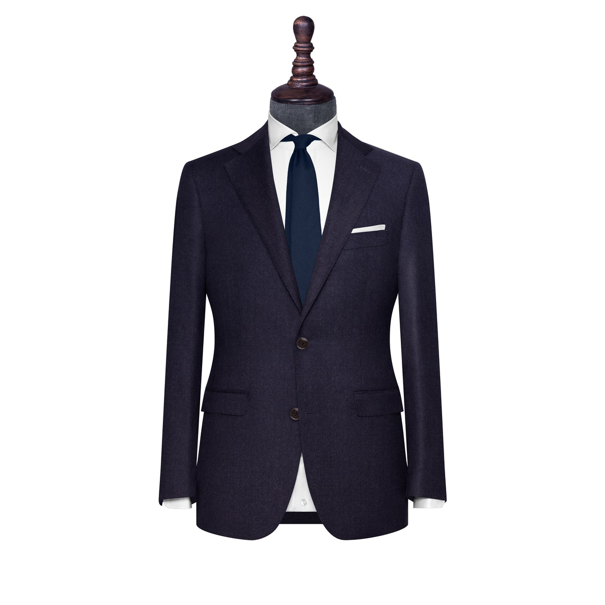 InStitchu Collection The Sorrento Midnight Blue Flannel Wool Jacket