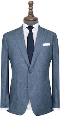 InStitchu Collection The Tompkins Blue Linen Jacket
