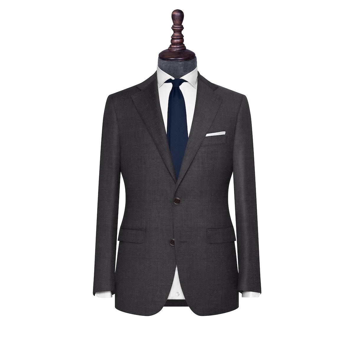 InStitchu Collection The Verona Charcoal Glen Plaid Wool Jacket