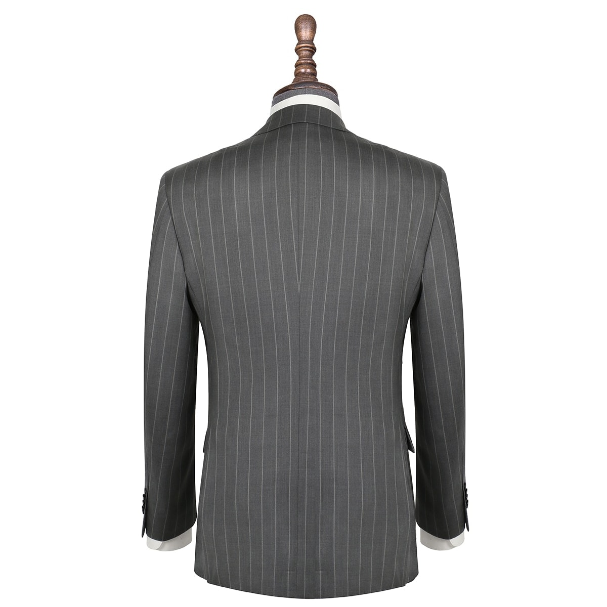 InStitchu Collection The Winton Grey Pinstripe Wool Jacket