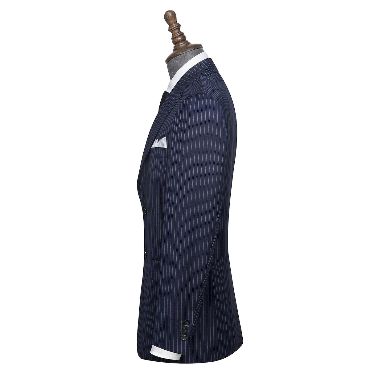 InStitchu Collection Tillington Navy Chalkstripe Wool Jacket