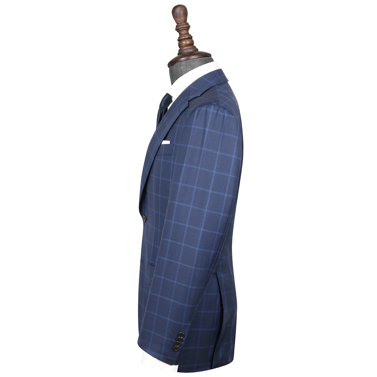 InStitchu Collection Walker Blue Glen Plaid Wool Jacket