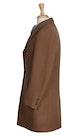 InStitchu Overcoats Camel Plain Overcoat
