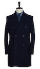 InStitchu Overcoats Navy Plain Wool Overcoat