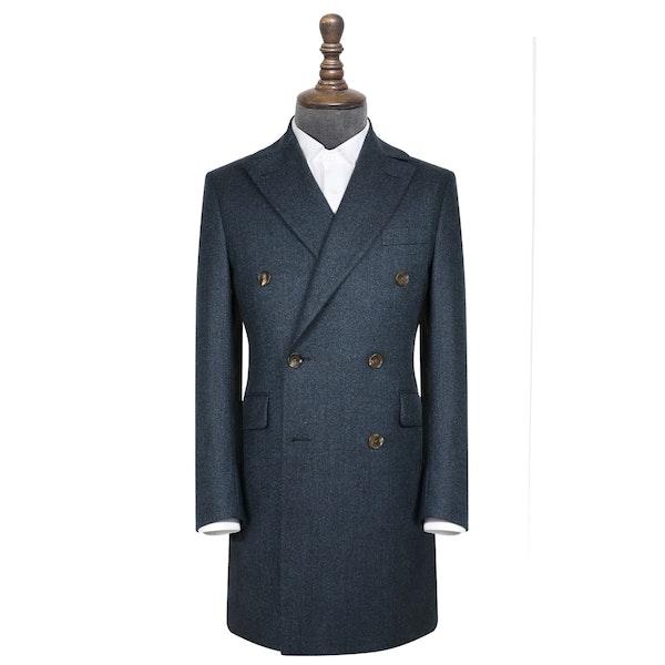InStitchu Deep Blue Grain Overcoat