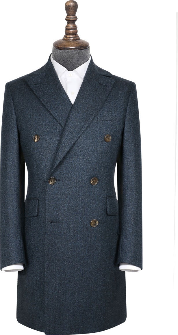 InStitchu Deep Blue Grain Overcoat