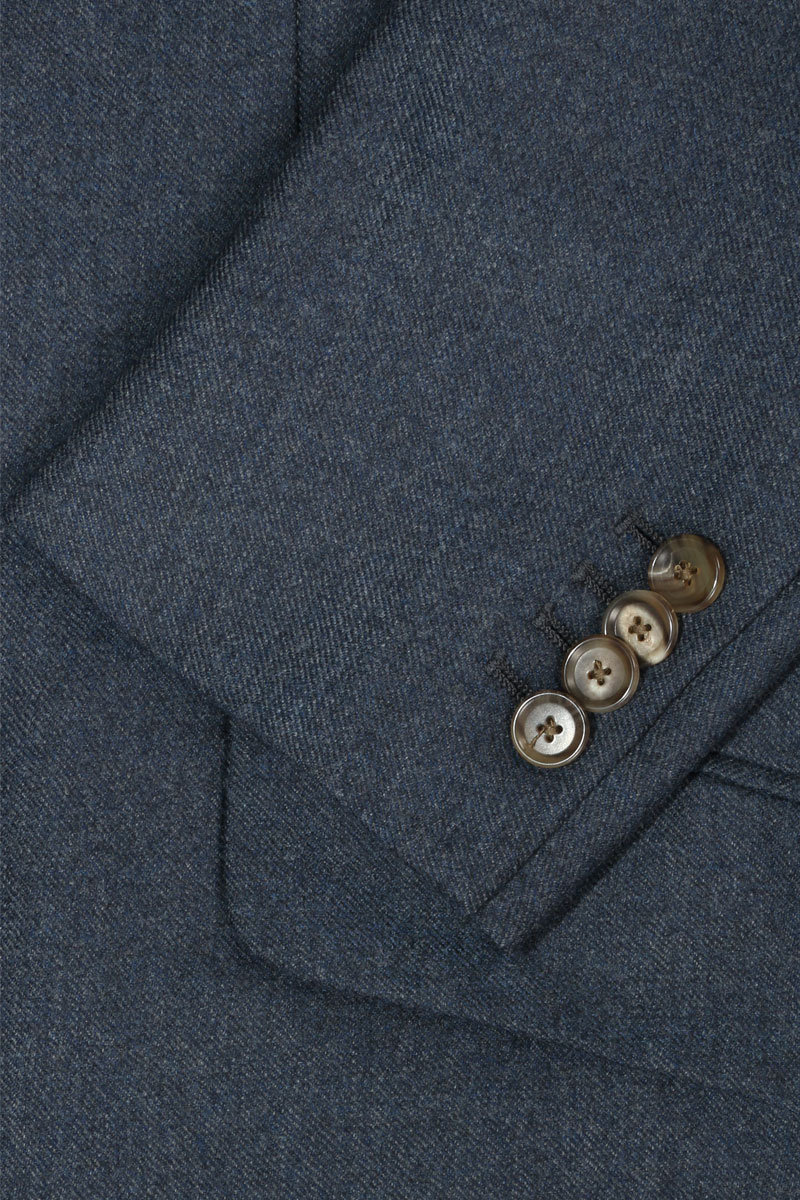 InStitchu Deep Blue Overcoat Sleeve Detail