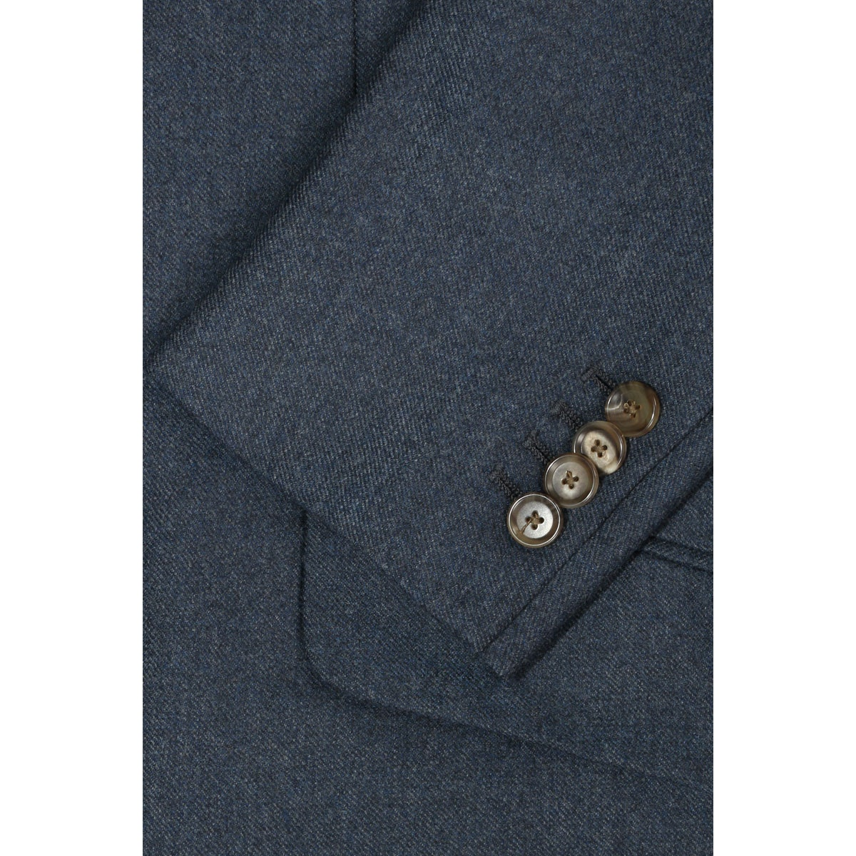 InStitchu Deep Blue Overcoat Sleeve Detail