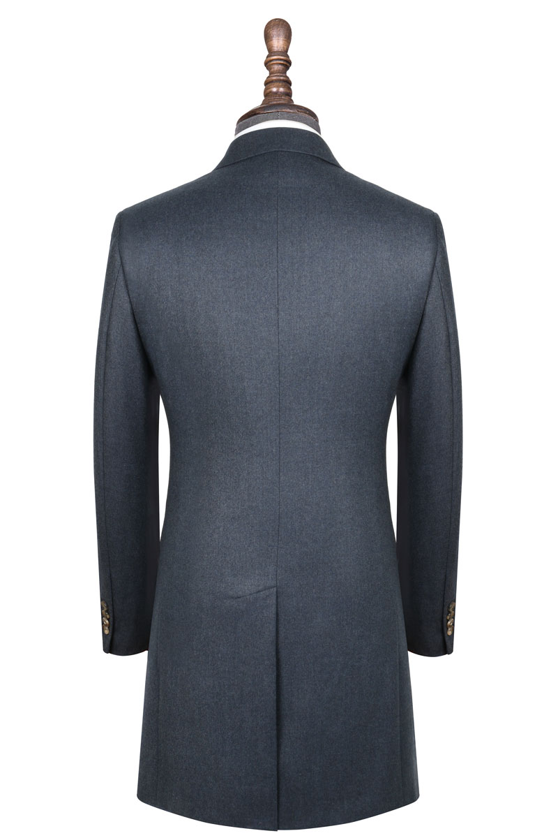 InStitchu Deep Blue Overcoat Back