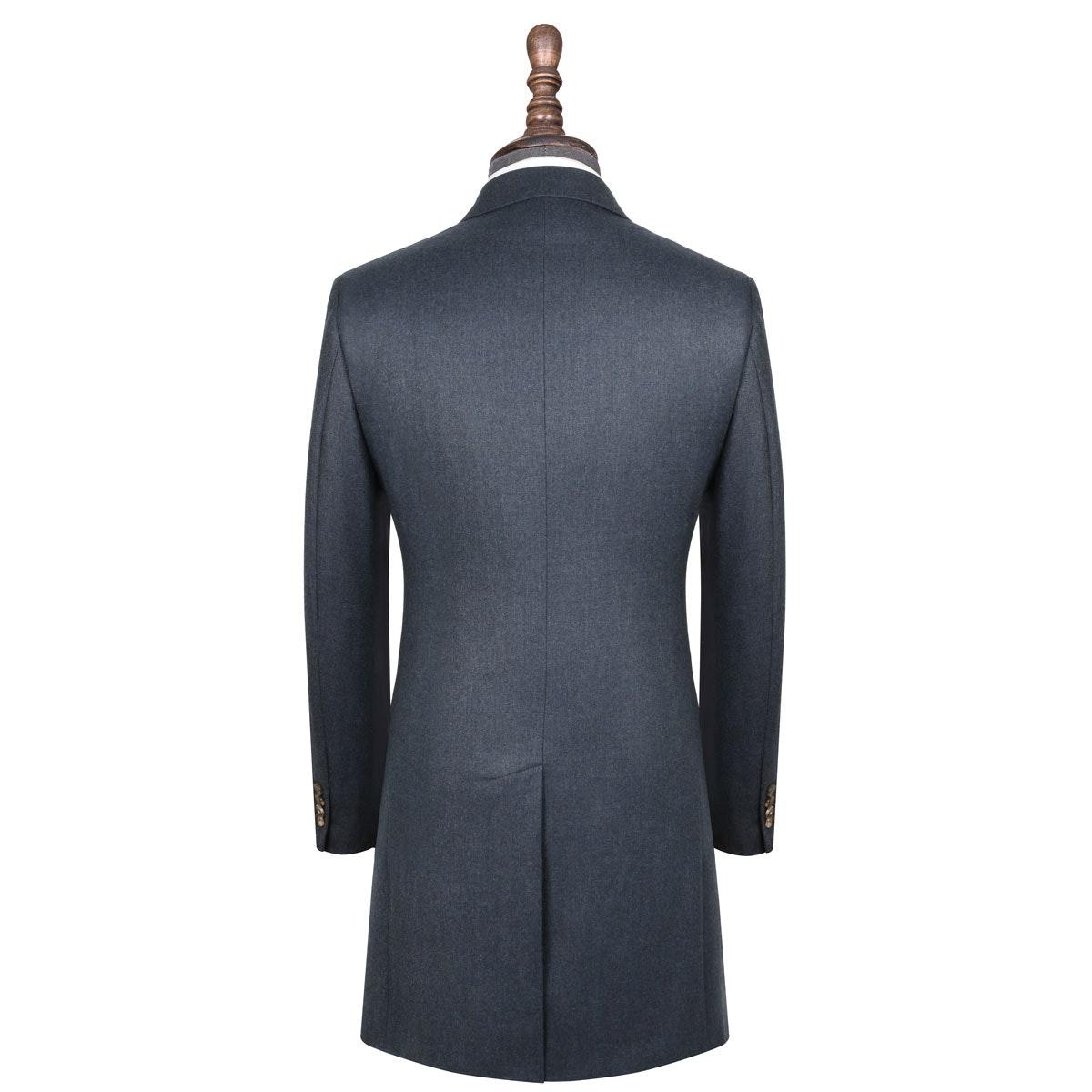 InStitchu Deep Blue Overcoat Back