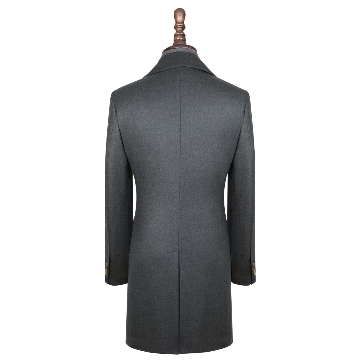 InStitchu Deep Grey Overcoat Back