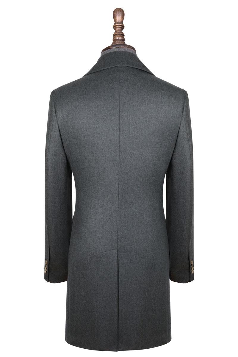 InStitchu Deep Grey Overcoat Back