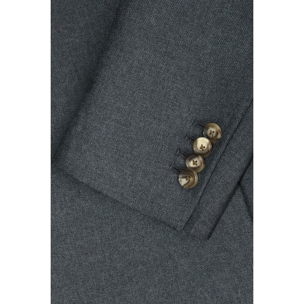 InStitchu Deep Grey Overcoat Sleeve Detail