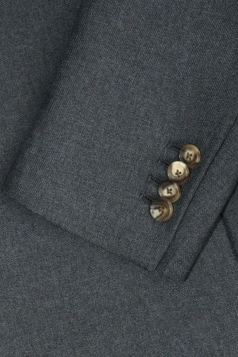 InStitchu Deep Grey Overcoat Sleeve Detail