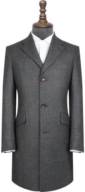 InStitchu Grey with Autumn Check Overcoat
