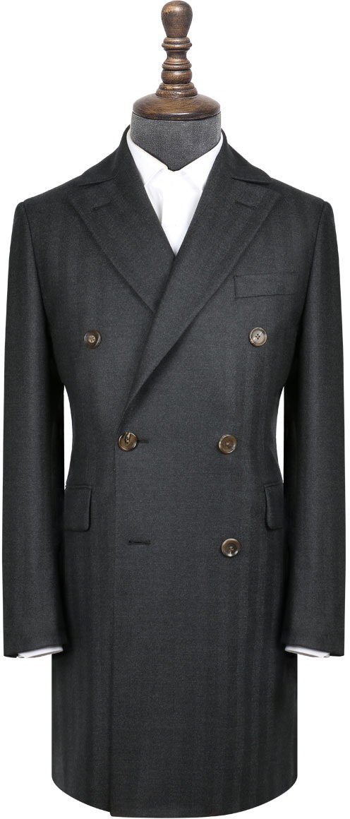 InStitchu Navy Herringbone Overcoat