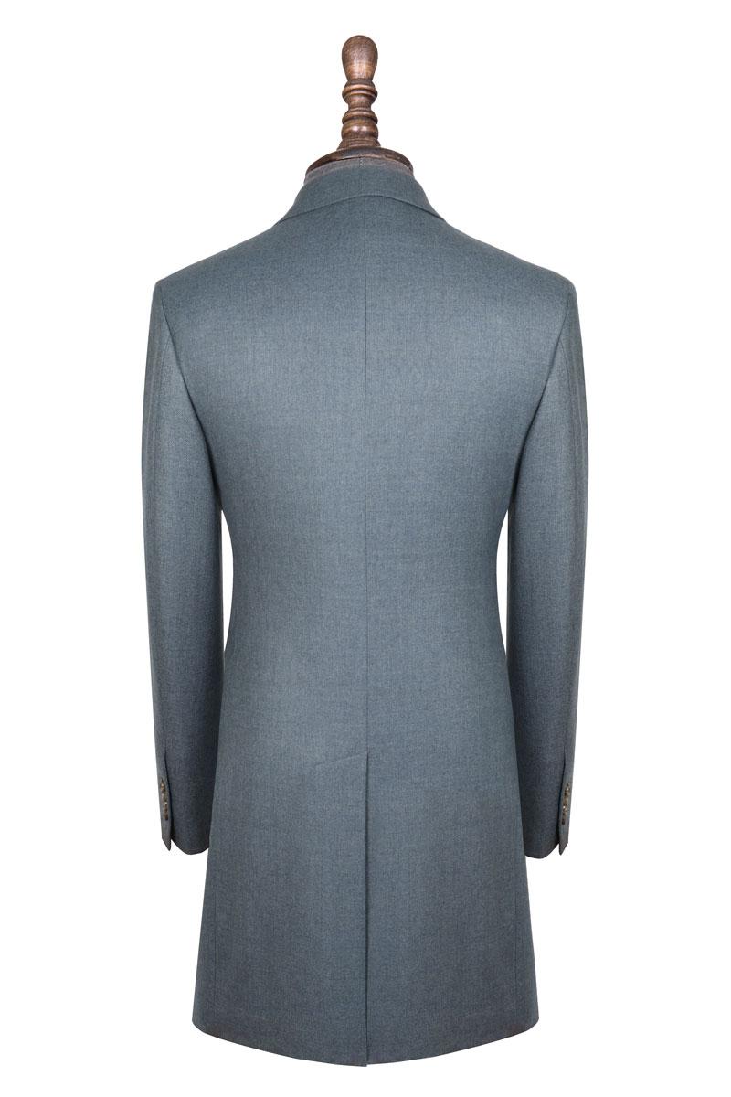 InStitchu Washed Slate Blue Overcoat Back