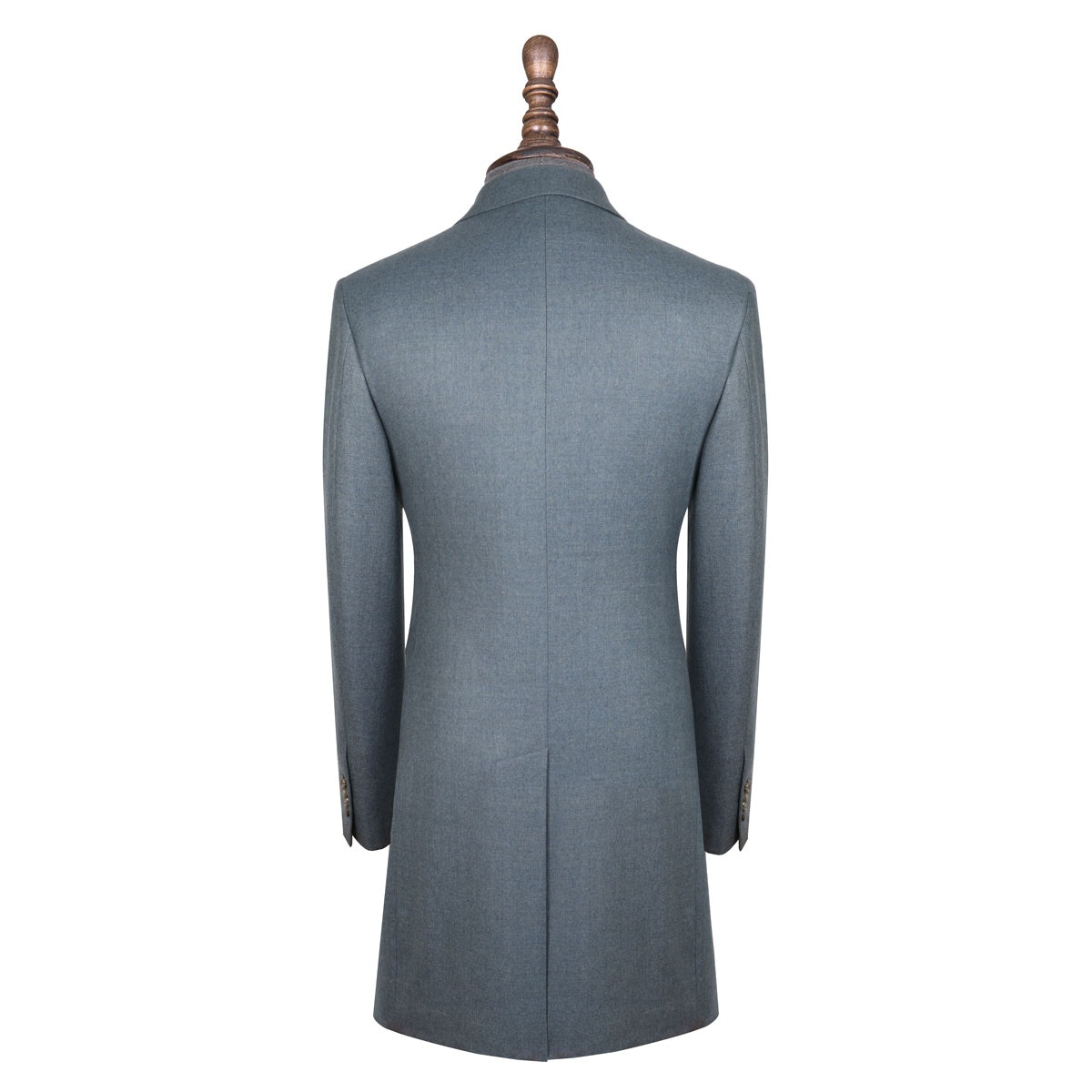InStitchu Washed Slate Blue Overcoat Back