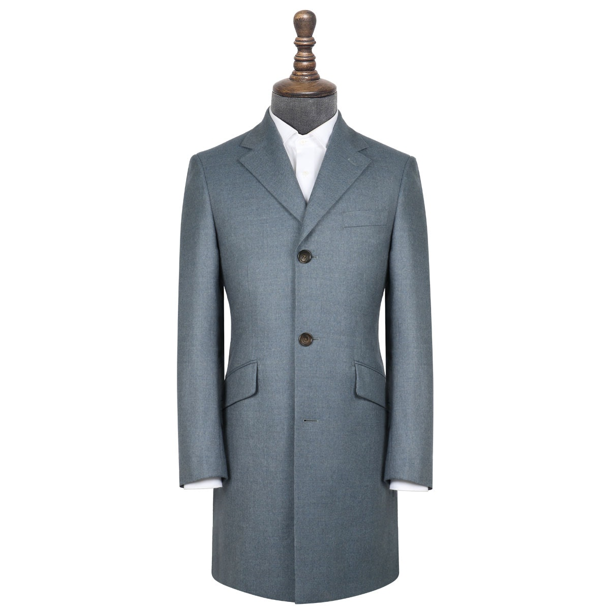 InStitchu Washed Slate Blue Overcoat