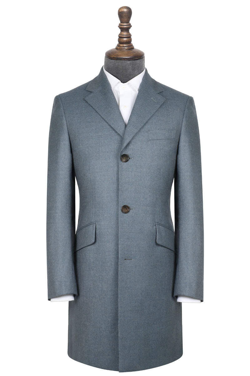 InStitchu Washed Slate Blue Overcoat