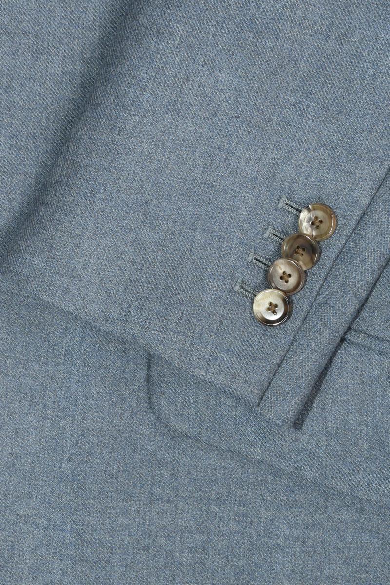 InStitchu Washed Slate Blue Overcoat Sleeve Detail