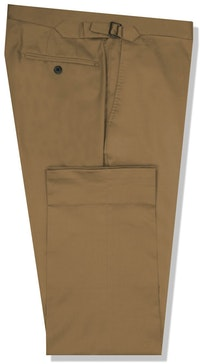 InStitchu Collection Beige Cotton Stretch Chinos