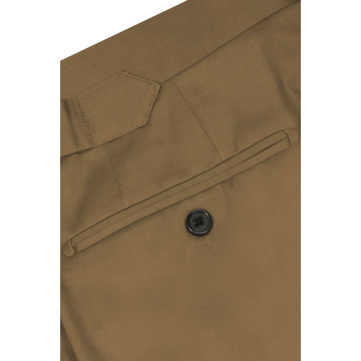 InStitchu Collection Beige Cotton Stretch Chinos
