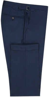 InStitchu Collection Brooklands Navy Glen Plaid Wool Pants