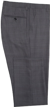 InStitchu Collection Carnwath Grey Glen Plaid Wool Pants