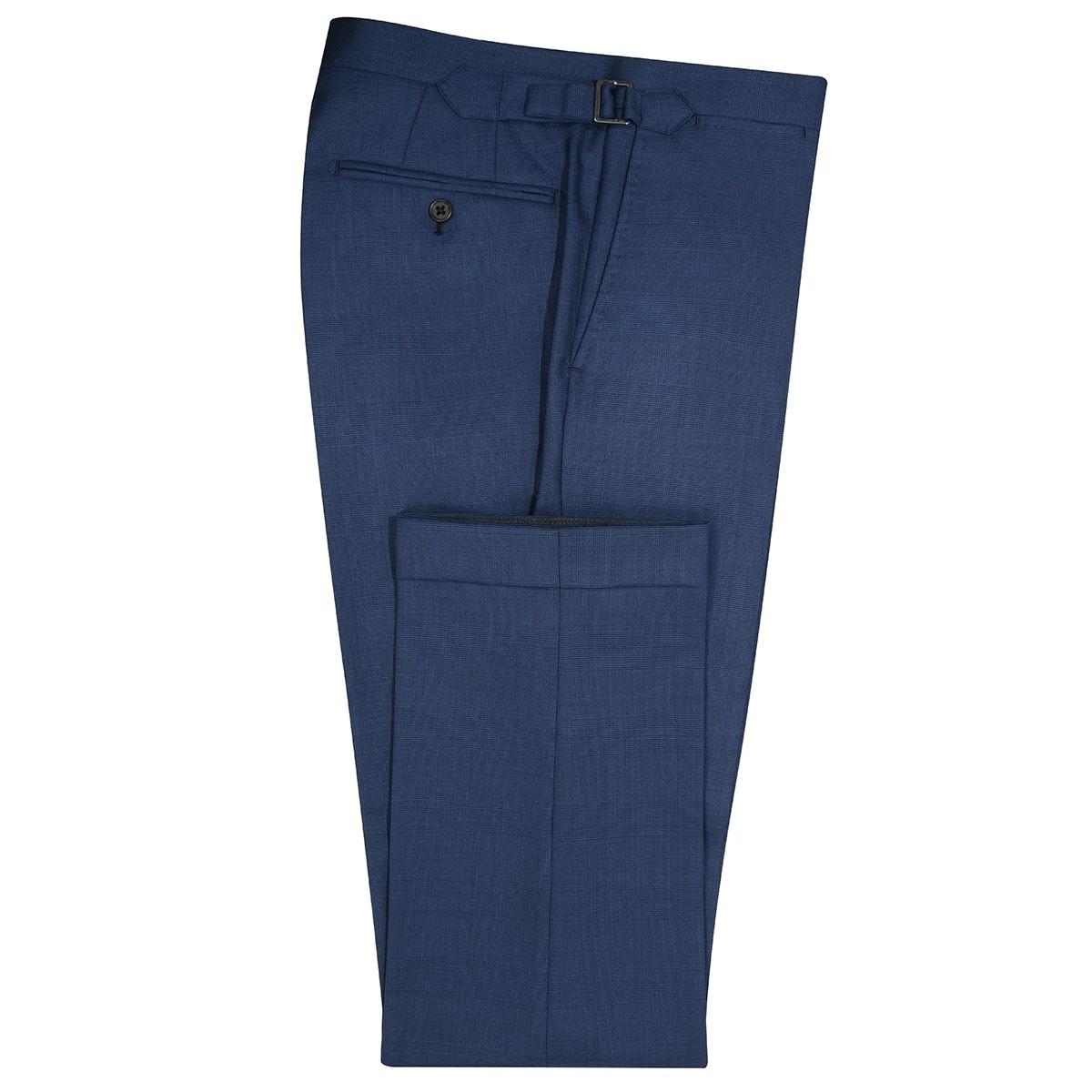 InStitchu Collection Dawn Blue Glen Plaid Wool Pants