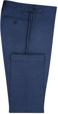 InStitchu Collection Dawn Blue Glen Plaid Wool Pants