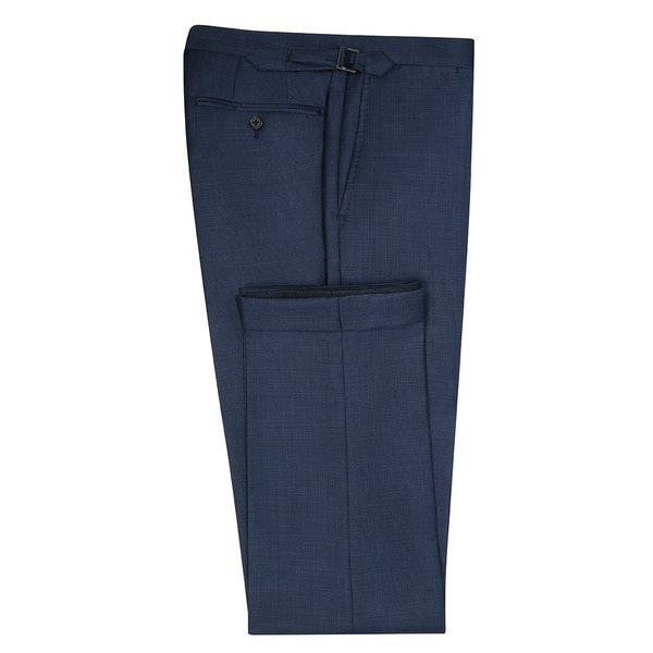 InStitchu Collection Draper Navy Birdseye Wool Pants