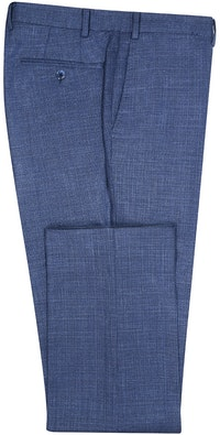 InStitchu Collection Eton Nailhead Blue Wool Pants