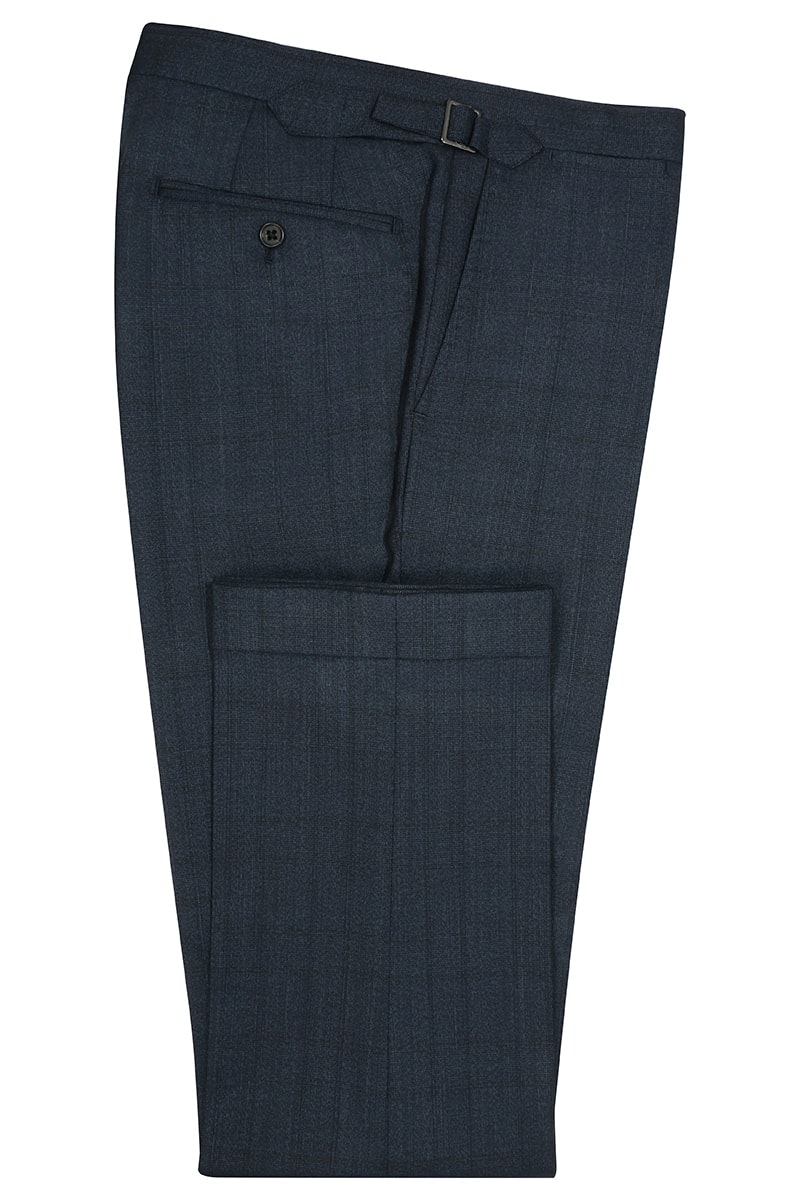 InStitchu Collection Evans Navy Glen Plaid Wool Pants