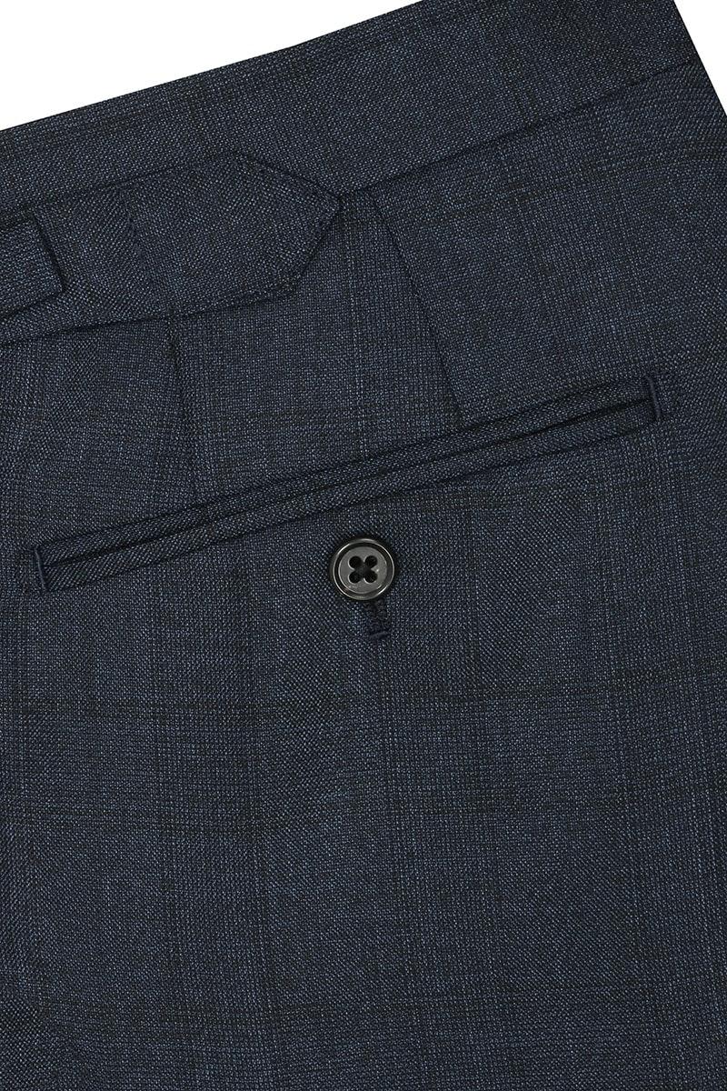 InStitchu Collection Evans Navy Glen Plaid Wool Pants