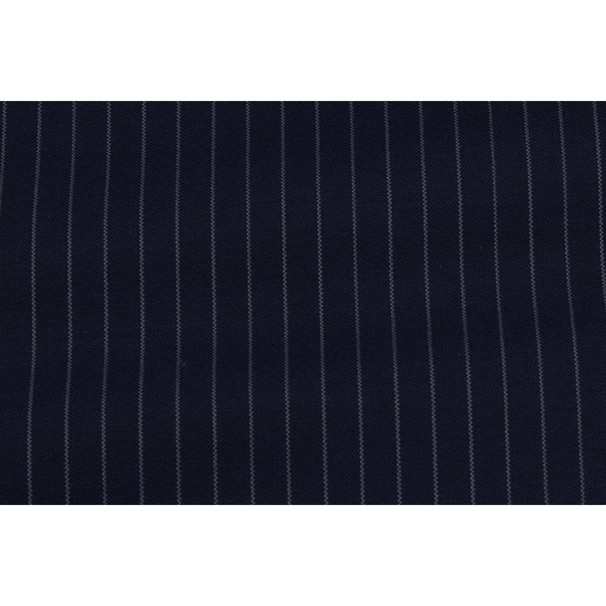 InStitchu Collection Fleg Grey Pinstripe Wool Pants