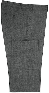InStitchu Collection Freehill Charcoal Glen Plaid Wool Pants