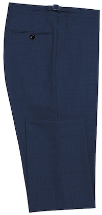 InStitchu Collection Hacking Navy Wool Pants