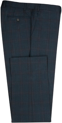 InStitchu Collection Herbert Blue Glen Plaid Wool Pants
