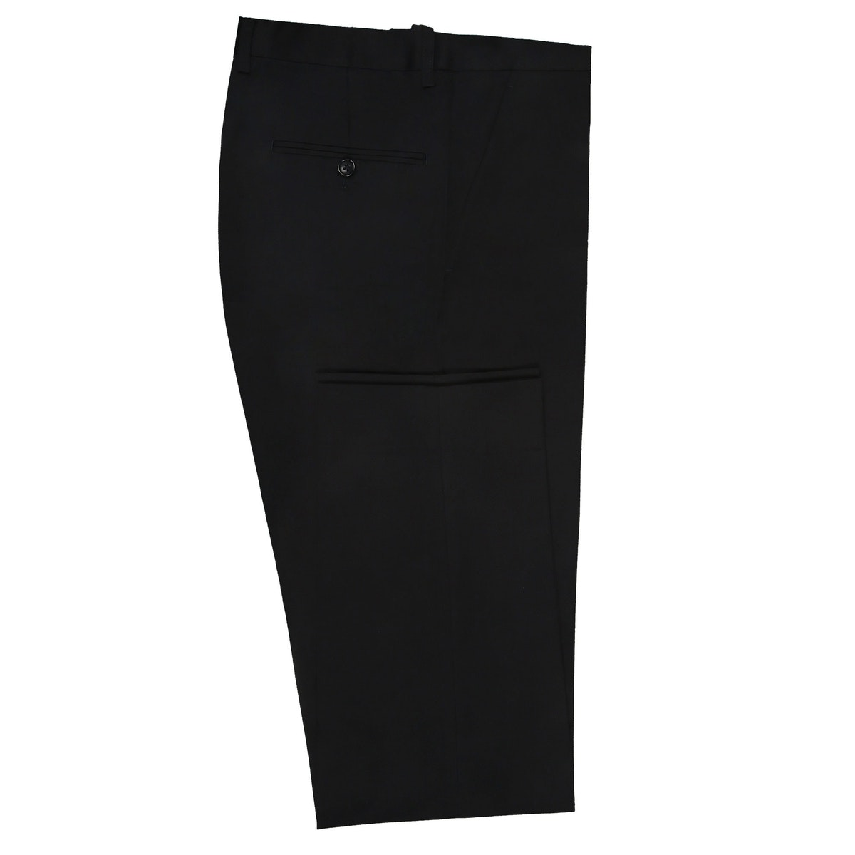 InStitchu Collection Huffed Black Wool Pants