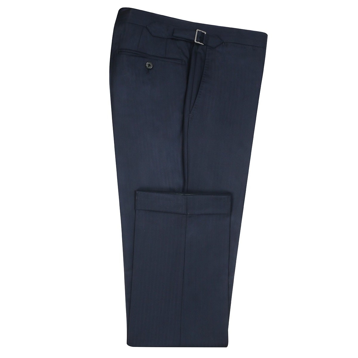 InStitchu Collection Kinfolk Navy Herringbone Wool Pants