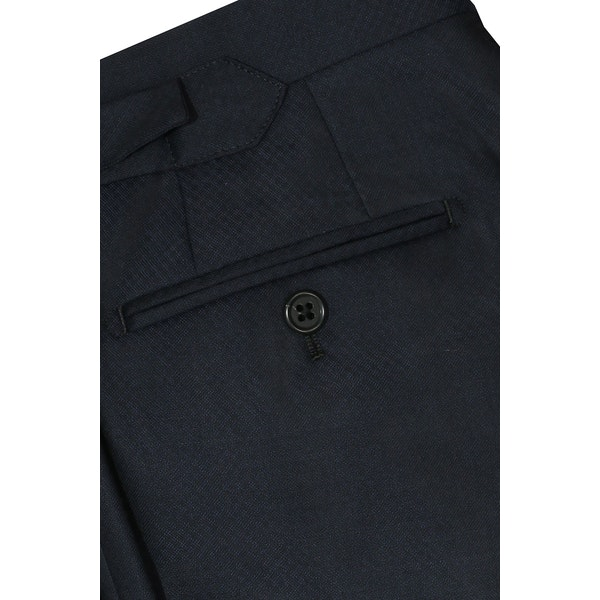 InStitchu Collection Pryce Navy Check Wool Pants