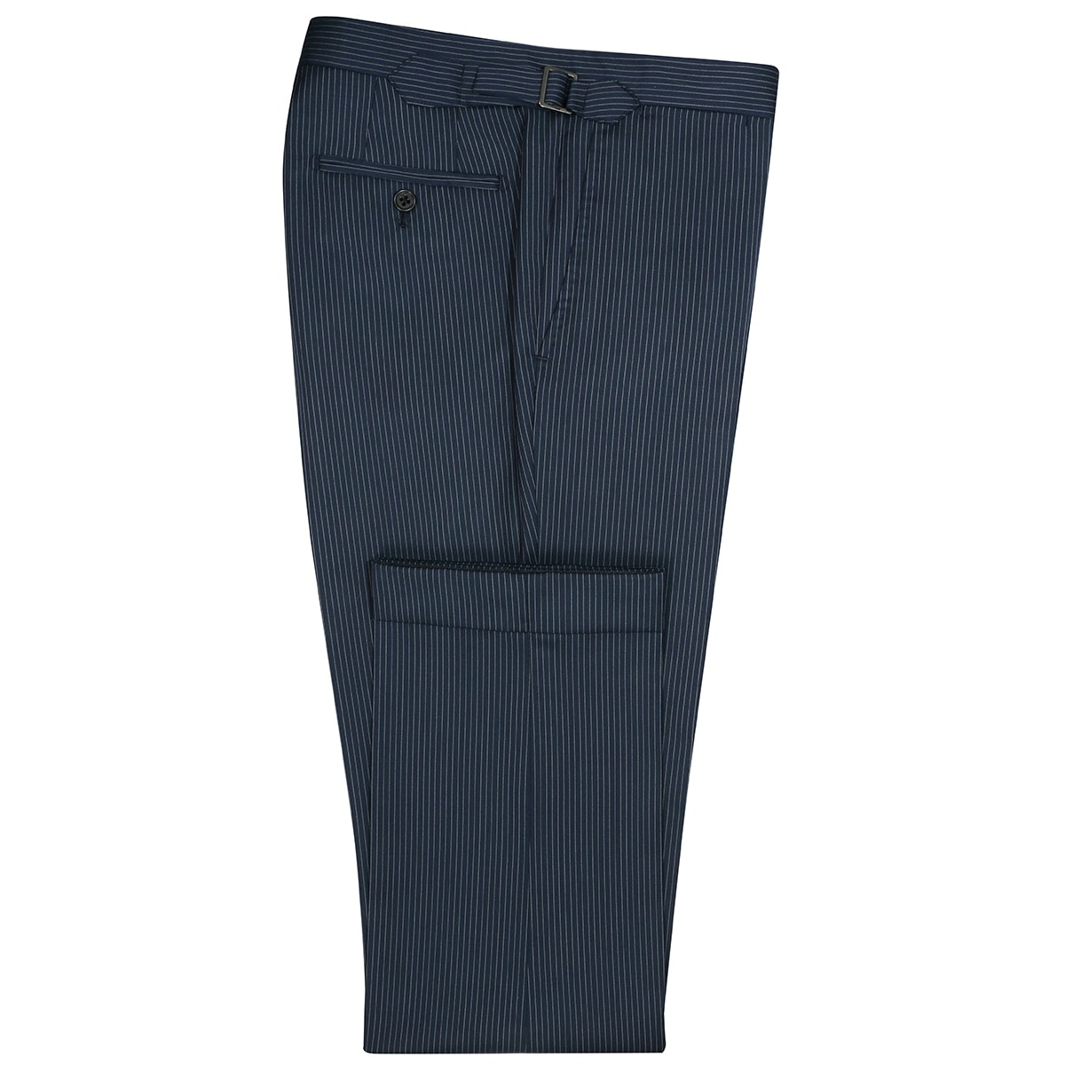 InStitchu Collection Pryce Navy Pinstripe Wool Pants