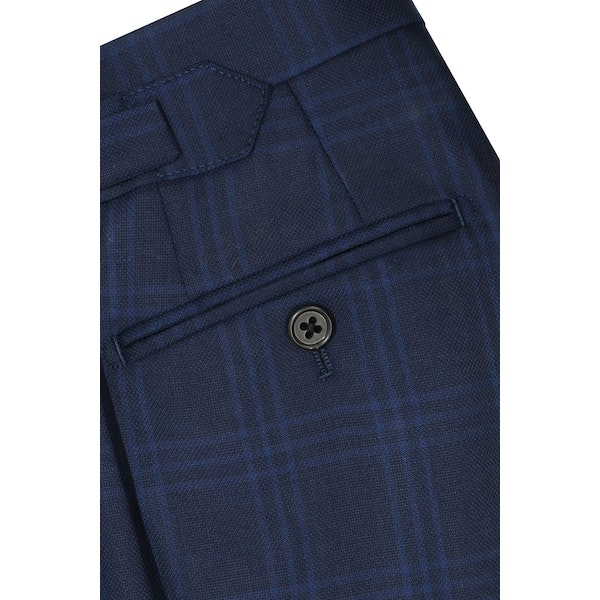 InStitchu Collection Schuman Navy Glen Plaid Pants