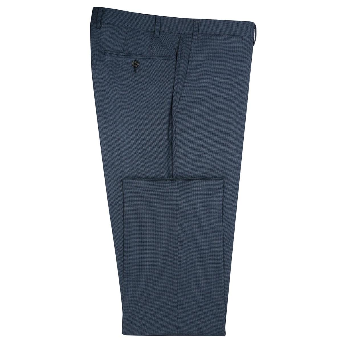 InStitchu Collection Spangle Blue Birdseye Wool Blend Pants