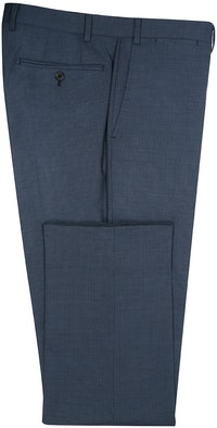 InStitchu Collection Spangle Blue Birdseye Wool Blend Pants